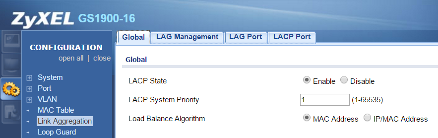 ZyXEL GS1900-16 & Synology Link Aggregation – Misdirected Request